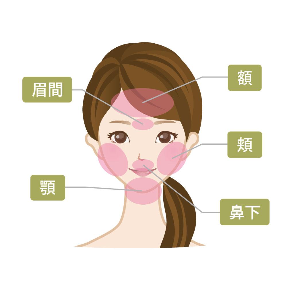 顔脱毛の対応パーツ